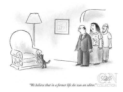 sam-gross-we-believe-that-in-a-former-life-she-was-an-editor-new-yorker-cartoon